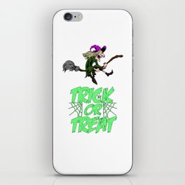 Funny Halloween Trick Or Treat Witch Gift Horror iPhone Skin