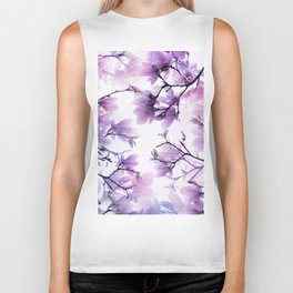 Magnolia purple 074 Biker Tank