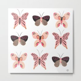Butterfly Trio Metal Print