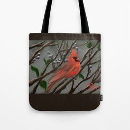 Male Cardinal DP151210a-14 Tote Bag