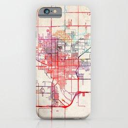 Hutchinson map Kansas KS iPhone Case