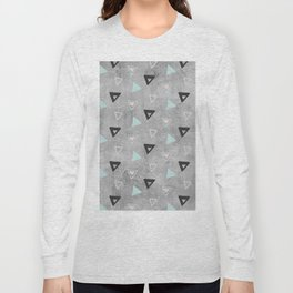 60ies - Black abstract triangle pattern on concrete - Mix&Match with Simplicty of life Long Sleeve T-shirt