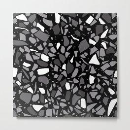 Terrazzo Spot Black 2 Metal Print