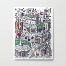 BARCELONA CITY FOOTBALL SCHOOL Metal Print