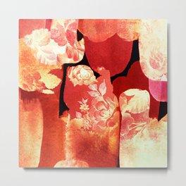 torn floral Metal Print