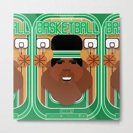 Basketball Green - Court Dunkdribbler - Hayes version Metal Print
