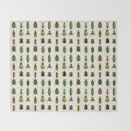 Jeweled Beetles  Throw Blanket