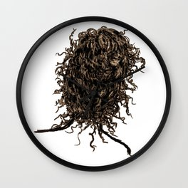 Messy dry curly hair 2 Wall Clock