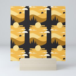 Pencil Scapes 12 Pattern Mini Art Print