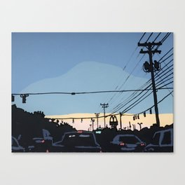 Reidville Road at Sunset Canvas Print