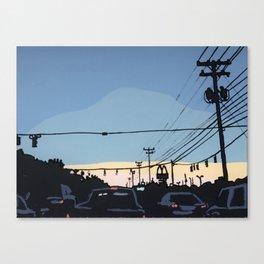 Reidville Road at Sunset Canvas Print