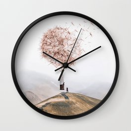 Flying Dandelion Wall Clock