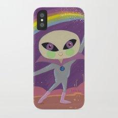 Rainbow Alien iPhone X Slim Case