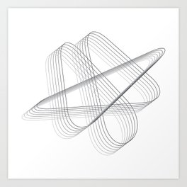 Neverending lines Art Print
