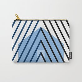 home sweet home on blue Carry-All Pouch