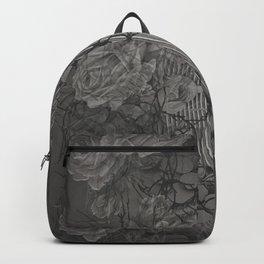 Rose Trellis in Tonal Grey Backpack