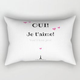 Oui je t'aime (Yes I love you) Rectangular Pillow
