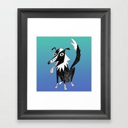 Basic Border Collie Framed Art Print