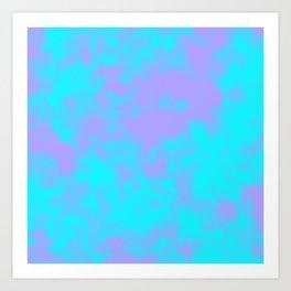 Cotton Candy Clouds - Purple & Blue Art Print