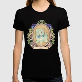 Kitschy Blue Kitten T-shirt