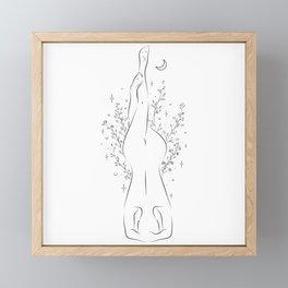 The Beautiful Yoga Pose Garuda Salamba Sirsasana Framed Mini Art Print