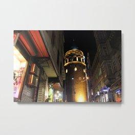 Galata Tower , Istanbul/TURKEY Metal Print