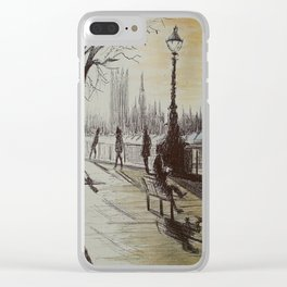 Evening on the South Bank Clear iPhone Case