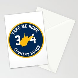 West Virginia State Map Country Roads Take Me Home WV Pride Stationery Cards