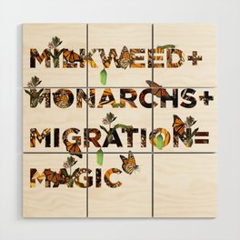 Monarch Magic Wood Wall Art