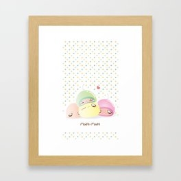 Mochi Mochi! Framed Art Print