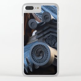 Japanese traditional temple roof 2 Clear iPhone Case