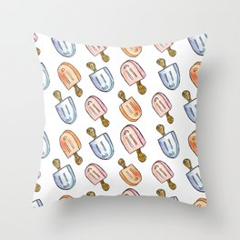 Popsicle Print Throw Pillow