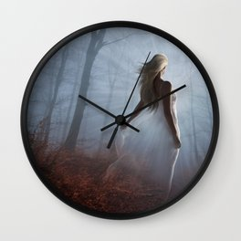 Lady In White Wall Clock
