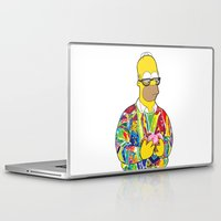 homer Laptop & iPad Skins featuring The Notorious Homer by BeGraphics