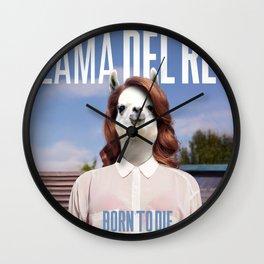Llama Del Rey Wall Clock