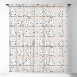 Bichon Frise Yoga Blackout Curtain