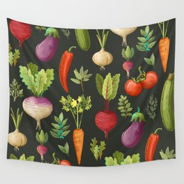 Garden Veggies Wall Tapestry
