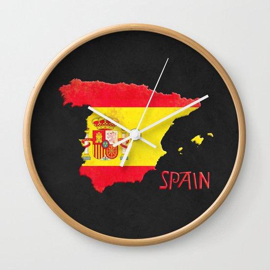 Spain Vintage Map Wall Clock