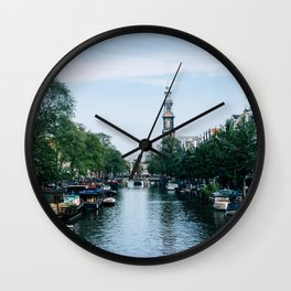 Down the Canal Wall Clock