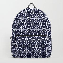 Japanese Yukata Jinbei Asanoha Navy blue Backpack