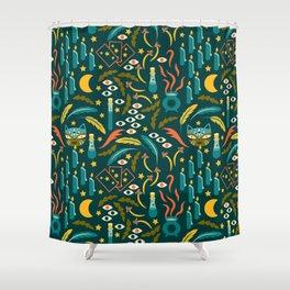 Magic Cat Pattern Shower Curtain