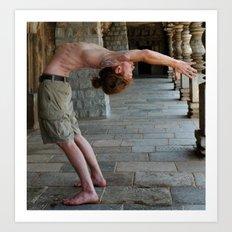 Yoga Asana dropback preparation back bending Urdhva Dhanurasana preparation Ashtanga Art Print