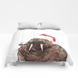 Christmas Daddy Walrus Comforters