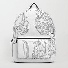 Happy Five Yen Coins - Line Art Backpack