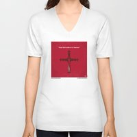 lawyer V-neck T-shirts featuring No263 My DRACULA minimal movie poster by Chungkong