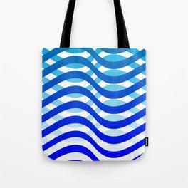 Waving Blue Pattern Tote Bag