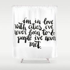 Inspiring quote // Brushlettering Shower Curtain