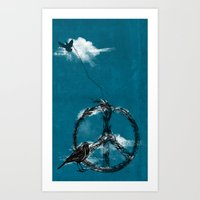 sewing Art Prints featuring sewing birds by frederic levy-hadida
