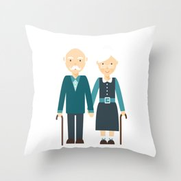 Happy Grandparents Day Throw Pillow