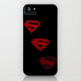 Three Supermen iPhone Case